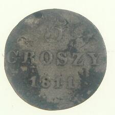1811 5 Groszy Grossus Groschen Poland Grand Duchy of Warsaw Silver Coin Nr 9018