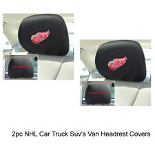 New NHL Detroit Red Wings Car & Truck Embroidered Headrest Covers Set Of 2