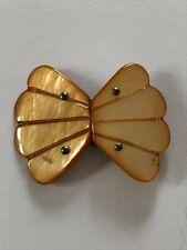 Art Deco Vintage Peach Mother Of Pearl Buckle