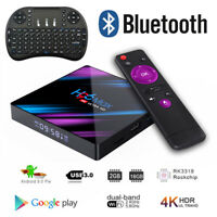 H96 Max TV Box 16G Android9.0 Dual WiFi RK3318 Quad Core 4K Player Keyboard Lot