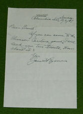 1957 James F Byrnes USC Gamecocks vs Clemson Tigers Football Tickets Letter L@@K