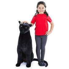 Giant Panther Lifelike Stuffed Animal Toy Kids Plush Toddler Cuddly Soft Black