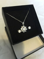 Brand new Qvc ladies Rhinestone set necklace and earring set Boxed gift for her