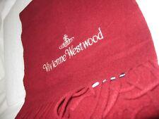 Rare Vintage, Vivienne Westwood Wool/Cashmere Scarf (Crimson) with Tassels