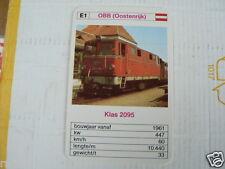24 EK LOKS E1 OBB AUSTRIA KLAS 2095 TRAIN TREIN KWARTET KAART,