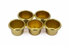 Woodturning Gold Effect Candle Cups / brass effect Pack of 5