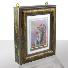 Caja de llaves Marrón exclusivo, ROJAS Tulipanes, al.xan.xpr. 27x22x6 cm