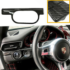 For Porsche 911 Boxster Cayman Headlight Ignition Switch Carbon Fiber Trim Cover