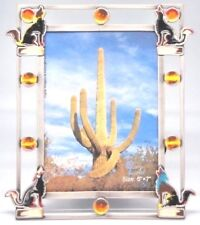 5 x 7 Four Coyotes Multi Color Epoxy Inlay Picture - Photo Frame # 693 .