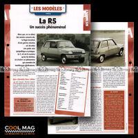#hvf.93.05 RENAULT 5 R5 1972 /'UN SUCCES PHENOMENAL/' Car Fiche Auto