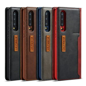 Leather Wallet Kick Stand Case Flip Phone Cover for Huawei P30 Pro P30 lite P30