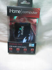 iHome Stable Link USB Multicard Reader IH-U201B Black GREAT VALUE NEW IN BOX