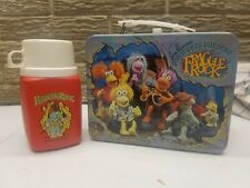 RARE NEW 1984 FRAGGLE ROCK VINTAGE METAL LUNCH BOX W/ THERMOS MINT UNUSED