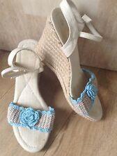 1980's vintage wedge esperdrilles sandals size 7
