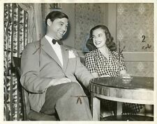 ELEANOR HOLM GEORGE ROSS SMILING PORTRAIT TV TALK SHOW ORIGINAL '55 NBC TV PHOTO