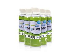 Air Duster Compressed Air 12x 400ml Pack Ozone Friendly Aerosol Can With Tube UK