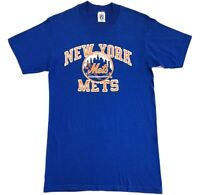 Vintage New York Mets Single Stitch Tee Blue Size M Adult T Shirt Logo 7