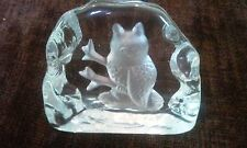 Beautiful Hand Crafted Crystal Glass Owl Paperweight