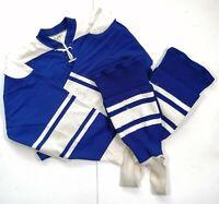 Vintage Ice Hockey Jersey Plain Blue White Leg Warmers Socks Sport Display Retro