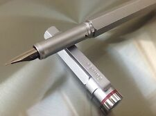 Rotring 600 Newton Silver Fountain Pen F nib Bauhaus Made in Germany