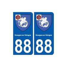 88 Granges-sur-Vologne blason autocollant plaque stickers ville droits