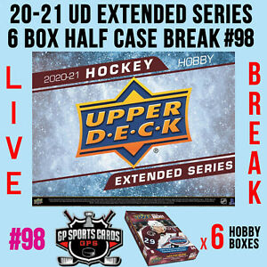 Ottawa Senators - 20-21 UD EXTENDED SERIES HOCKEY 6 BOX HALF CASE BREAK #98