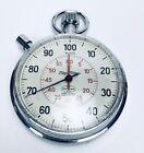 Vintage Meyilan 1/100 Second Stopwatch Timer 7 Jewel Germany Mega Minute Working