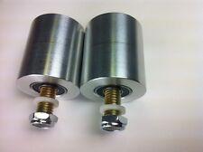 """Belt grinder wheels for 2x72"""" knife grinders Set of 2 wheels with bolt axles"""