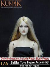 "1:6 KUMIK Female Head Blonde Sculpt F 12"" Hot Toys Phicen Action Figure 13-12"