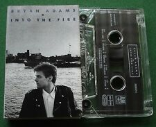 Bryan Adams Into The Fire inc Only The Strong Survive + Cassette Tape - TESTED