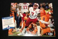 MOHAMED SIGNED NEBRASKA CORNHUSKERS 8X10 PHOTO BECKETT COA Q89757