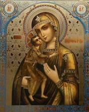 ORTHODOX ICON HOLY VIRGIN MARY JESUS RUSSIAN RUSSIA FEODOROVSKAYA