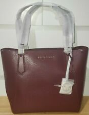 MK Michael Michael Kors Merlot Leather Jet Set Medium Travel Shoulder Tote Bag