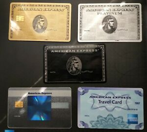 American Express Bundle : 5 cards. Authentic. Ultra RARE. Collectible. Centurion