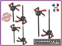 POWERFIX® Set de serre joints serrage facile à une main 2 pièces ou 4 pièces
