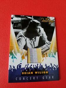 BRIAN WILSON THE BEACH BOYS SINGER CONCERT WORN RELIC MEMORABILIA CARD #1 SURF