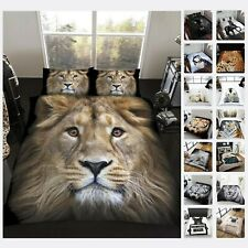FAUX FUR 3D ANIMAL PRINT Throw Fleece Sofa Bed Blanket Double & King Warm & Cosy