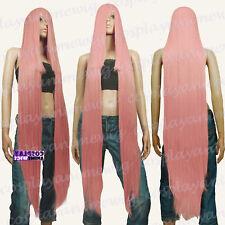 130cm Soft Milkshake Pink Hi_Temp Series 55cm Extra long Bang Cosplay Wigs 99KPN