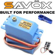 Mega Combo - Savox SW-0231MG Waterproof Servo + Glitch Buster + Aluminun Horn