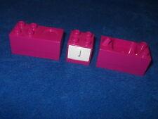 LEGO DUPLO VILLE PUPPENHAUS KÜCHE WASCHBECKEN SPÜLE + HERD dunkel Pink + Schrank