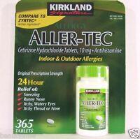 Kirkland Signature ALLER-TEC Cetirizine HCL 10mg 365 Tablets, Antihistamine