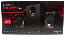 Creative Sound Blaster X Kratos S3 Analoge 2.1 Gaming Speaker Subwoofer Schwarz