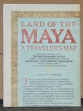 1989 National Geographic Map of the Land of the Maya
