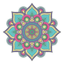 New Floral Mandala Design Sticker Decor Car, Van, Fridge, Laptop, Wall Art Decal
