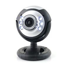 Webcam USB High Quality& Resolution, 5G Lens, Built in Mic  6 LED  Black.