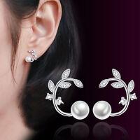 Boucles d'oreilles en argent 925 avec perles de cristal