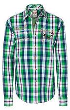 Stockerpoint Trachten Hemd Joshua Men - Gr.M-50 - 39/40 - smaragd