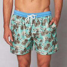 Da Uomo Thomas Royall Bora Bora Floreale Pantaloncini Large CS170 CC 13