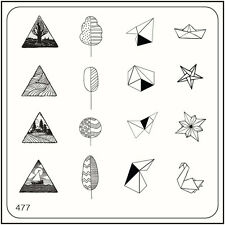 MoYou Nail Fashion Stamping Nail Art Image Plate 477 Trendy Style Origami