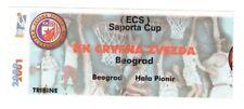 Collector ticket Basket : Red Star Crvena Zveda Unknow 2000/01 Saporta Cup